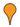 orange pin